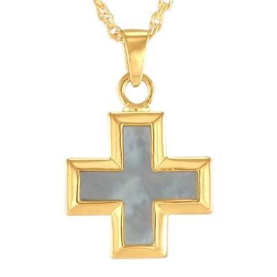 Pearl Mini Cross Keepsake Pendant II
