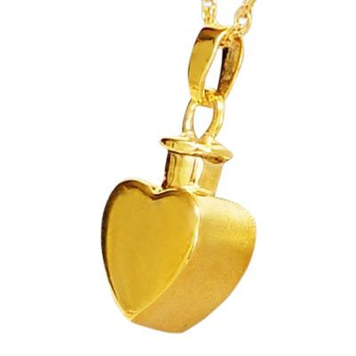 Flat Heart Keepsake Pendant IV