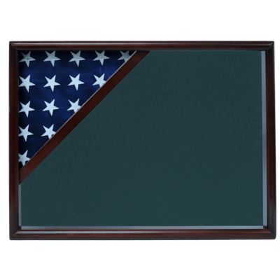 Walnut Flag Shadow Box Display Case