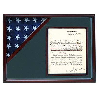 Cherry Veteran Shadow Box Display Case