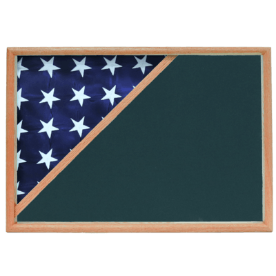 Oak Memorial Shadow Box Display Cases