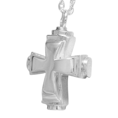 Round Cross Cremation Jewelry III