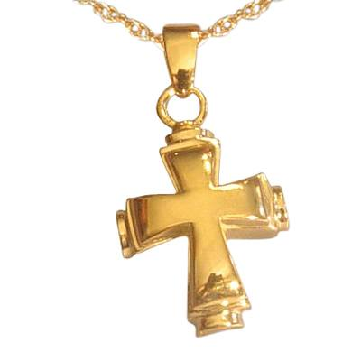 Round Cross Cremation Jewelry IV