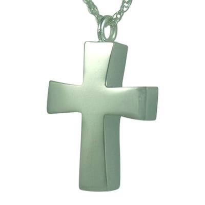 Curved Cross Keepsake Pendant