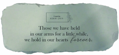 Those We Have Held In Our Arms Bench