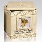 Dog Paw Prints Heart Cremation Urn