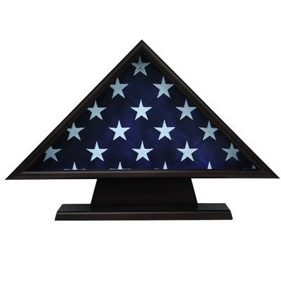 Ceremonial Black Flag Display Case