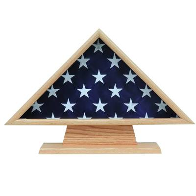 Ceremonial II Oak Flag Display Case