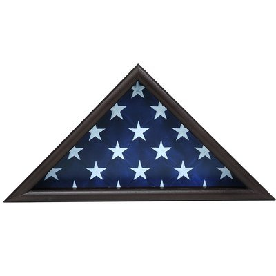 Triangle Black Flag Display Case