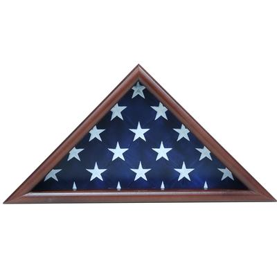 Triangle Wood Flag Display Cases