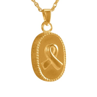 Oval Ribbon Keepsake Pendant II
