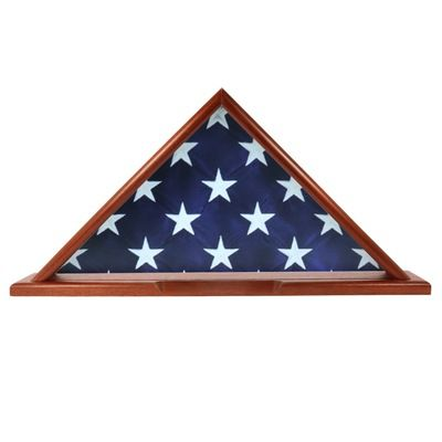 Casket Wood Flag Display Cases