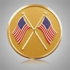 American Flags Medallion Appliques