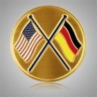 German American Flags Medallion Appliques