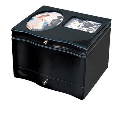 International Photo Chest Wood Urn