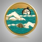 Swimming Medallion Appliques