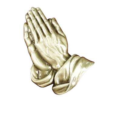 Praying Hands Medallion Appliques