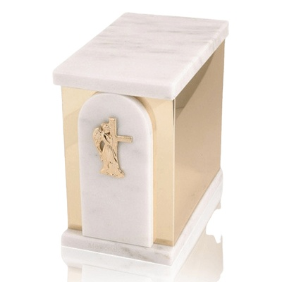Trinity White Danby Marble Cremation Urns