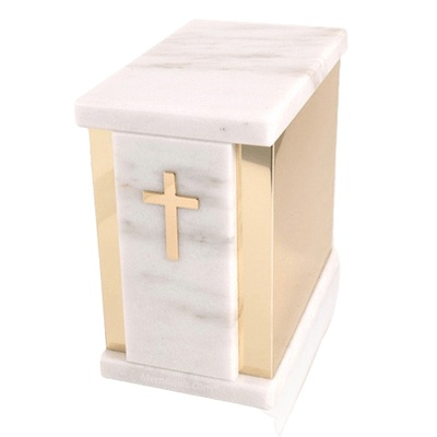 Ethinity White Danby Marble Urn