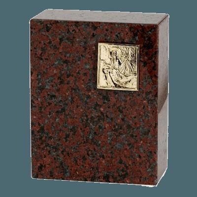 Eternitas African Red Granite Urn