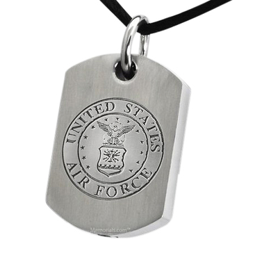 Air Force Dog Tag Cremation Pendant