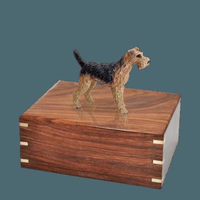 Airedale Medium Doggy Urn