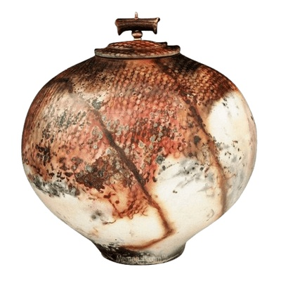 Alasila Raku Cremation Urn For Two