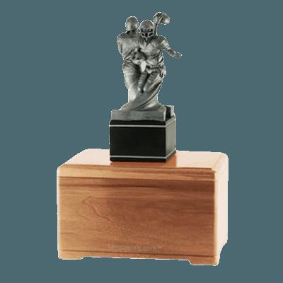 American Football Light Cherry Cremation Urn