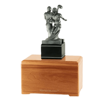 American Football Oak Cremation Urn