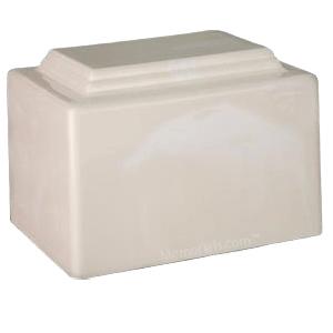 Amity Cream Marble Cremation Urn