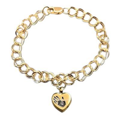Amore 14k Gold Cremation Print Bracelet