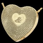 Ampersand 14k Yellow Gold Cremation Print Keepsake