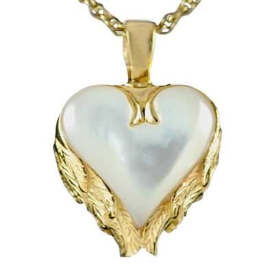 Angel Wings Heart Keepsake Pendant IV