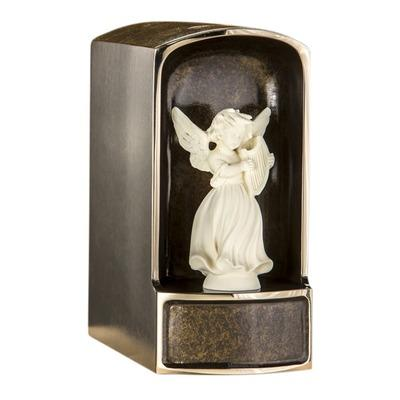 Angel with Mandolin Bronze Cremation Urn
