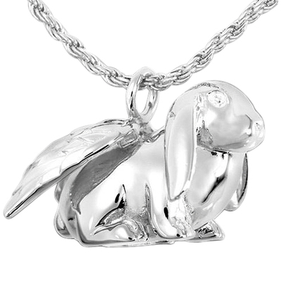 Angel Bunny Cremation Pendant III