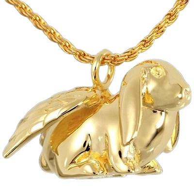 Angel Bunny Cremation Pendant IV