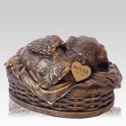Angel Dog Cremation Urn Bronze