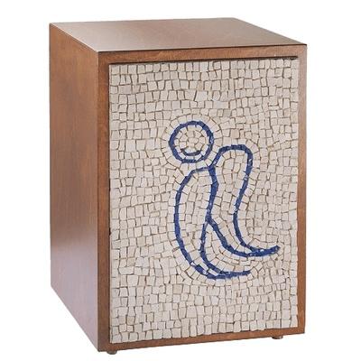 Angel Mosaic Cremation Urn