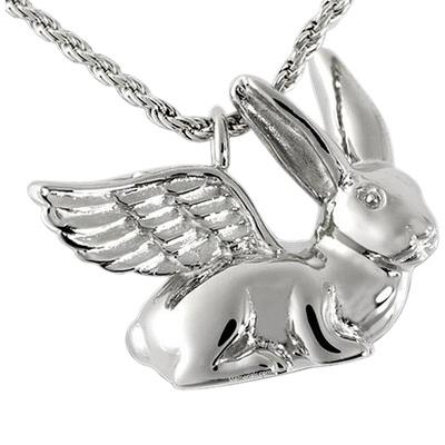 Angel Rabbit Cremation Pendant III