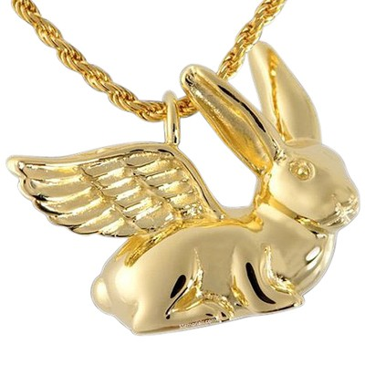 Angel Rabbit Cremation Pendant II