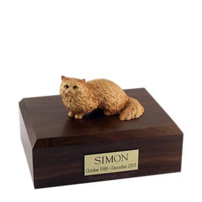 Angora Brown Large Cat Cremation Urn