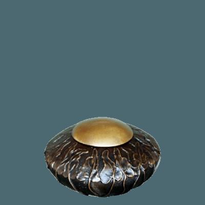 Antique Ivy Bronze Small Cremation Urn