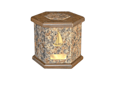 Antonio Dakota Mahogany Cremation Urn