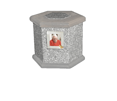 Antonio Grey Cremation Urn