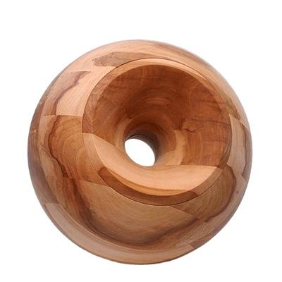 Apple Orb Wood Urn