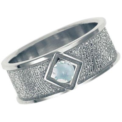 April Birthstone Sterling Silver Ring Print Keepsakes
