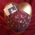 Aquitaine Ceramic Heart Urn