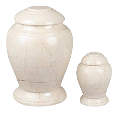 Aristo Creme Marble Cremation Urns