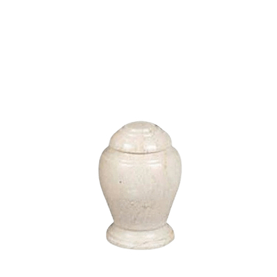 Aristo Creme Small Marble Urn