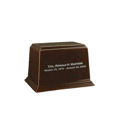 Ark Chocolate Keepsake Marble Urn